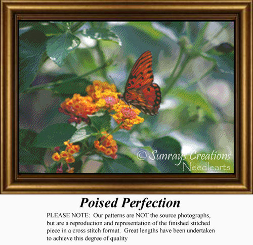 Poised Perfection, Flowers Counted Cross Stitch Pattern