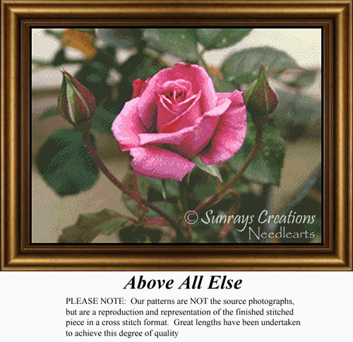 Above All Else, Flowers Counted Cross Stitch Pattern