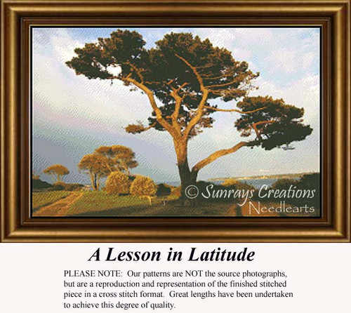 A Lesson in Latitude, Trees Counted Cross Stitch Pattern