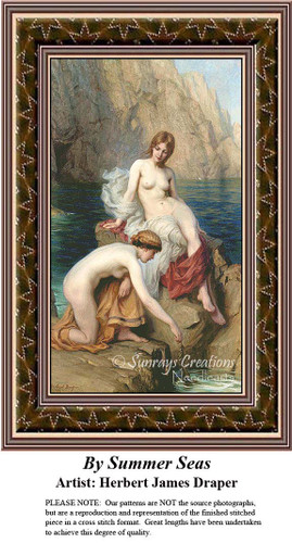 By Summer Seas, Fine Art Counted Cross Stitch Pattern