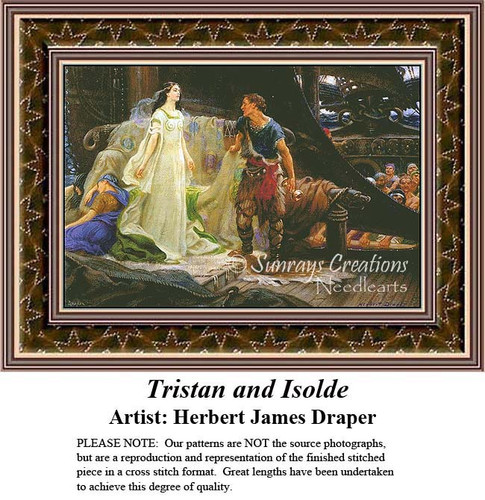 Tristan and Isolde, Fine Art Counted Cross Stitch Pattern