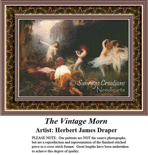 The Vintage Morn, Fine Art Counted Cross Stitch Pattern