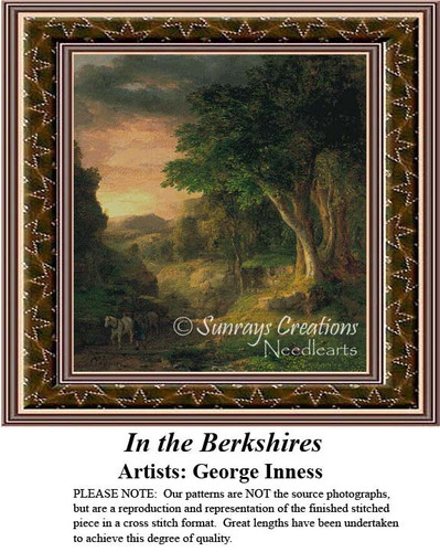 In the Berkshire, Fine Art Counted Cross Stitch Patten, Alluring Landscapes Counted Cross Stitch Patterns