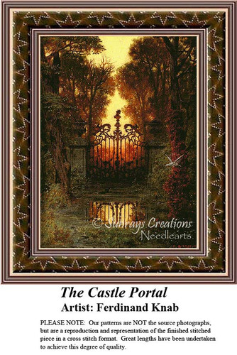 The Castle Portal, Fine Art Counted Cross Stitch Pattern