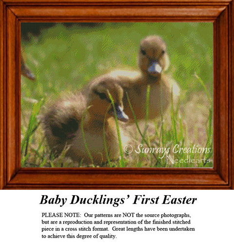 Baby Duckling's First Easter, Animal Cross Stitch Pattern