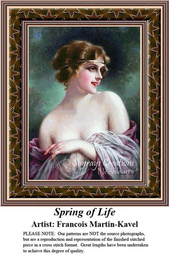 Spring of Life, Fine Art Counted Cross Stitch Pattern