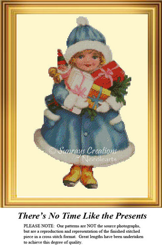 There's No Time Like the Presents, Christmas Cross Stitch Pattern
