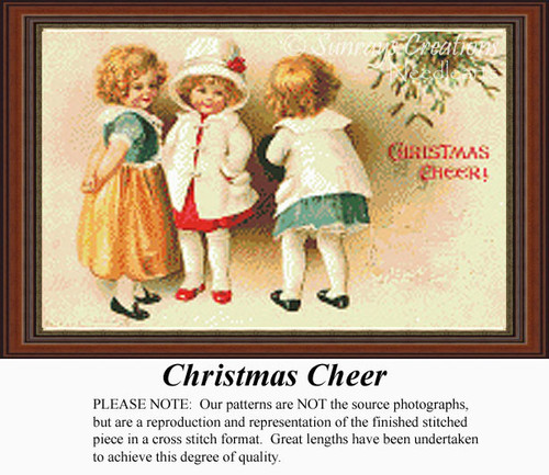 Christmas Cheer, Vintage Counted Cross Stitch Pattern