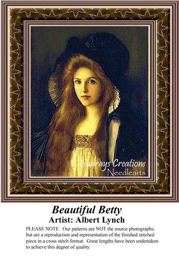 Beautiful Betty, Fine Art Counted Cross Stitch Pattern
