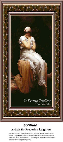 Solitude, Fine Art Counted Cross Stitch Pattern