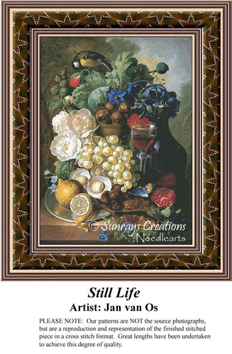 Still Life, Fine Art Cross Stitch Pattern