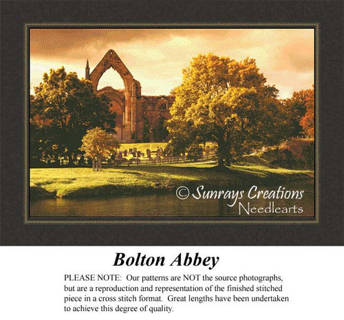 Bolton Abbey, Landscape Cross Stitch Pattern