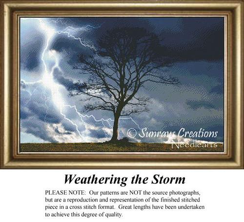 Weathering the Storm, Tree Cross Stitch Pattern