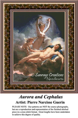 Aurora and Cephalus, Fine Art Counted Cross Stitch Pattern