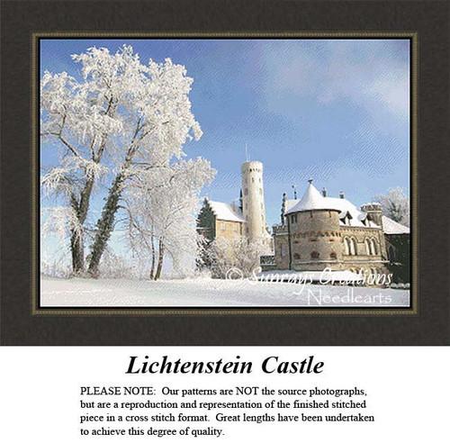 Castle Cross Stitch Patterns | Lichtenstein Castle