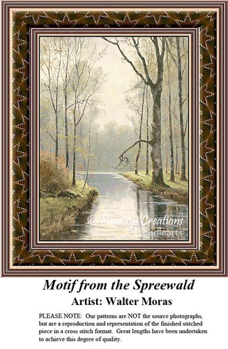 Motif from the Spreewald, Fine Art Counted Cross Stitch Pattern, Alluring Landscapes Counted Cross Stitch Patterns
