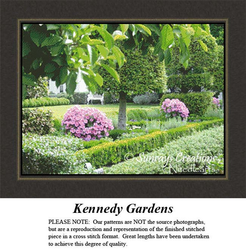 Landscapes Cross Stitch Pattern | Kennedy Garden