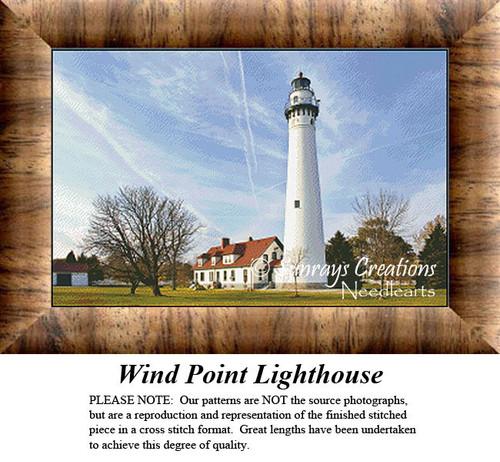 Lighthouse Cross Stitch Patterns | Wind Point Lighthouse