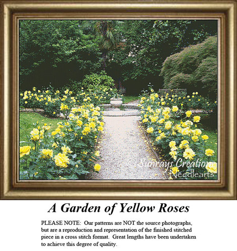 Alluring Landscapes | A Garden of Yellow Roses