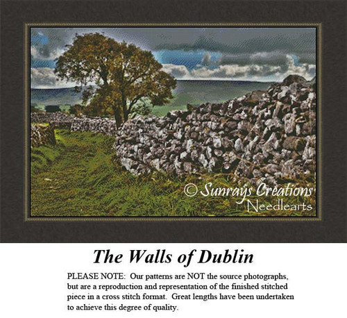 Irish Cross Stitch Patterns | The Walls of Dublin