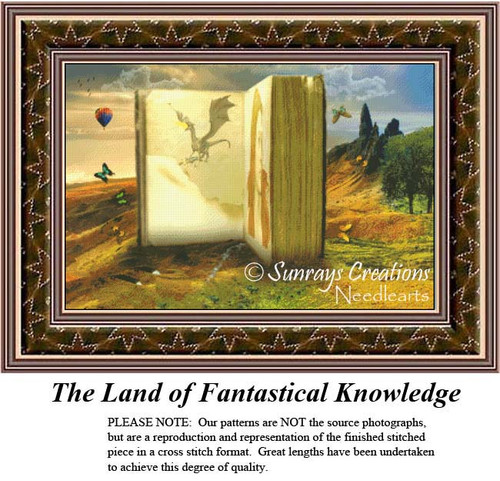 Fantasy/Surreal Cross Stitch Patterns | The Land of Fantastical Knowledge