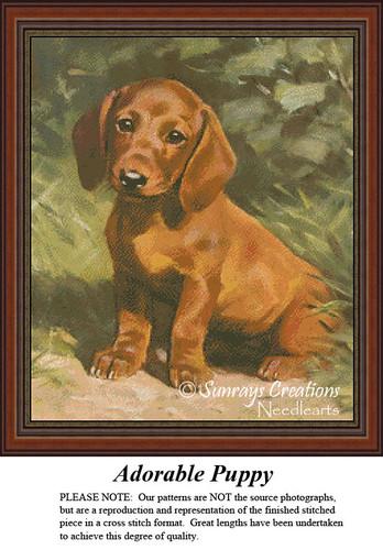 Free Animal Cross Stitch Pattern | Adorable Puppy
