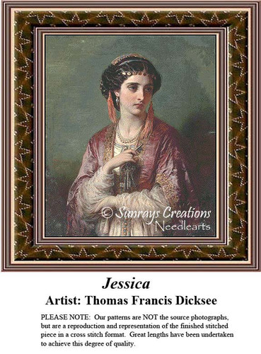 Fine Art Cross Stitch Patterns | Jessica
