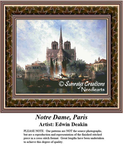 Fine Art Cross Stitch Pattern | Notre Dame, Paris