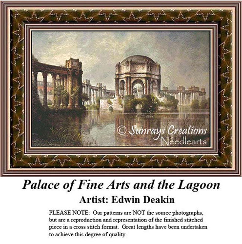 Fine Art Counted Cross Stitch Patterns | Palace of Fine Arts and the Lagoon