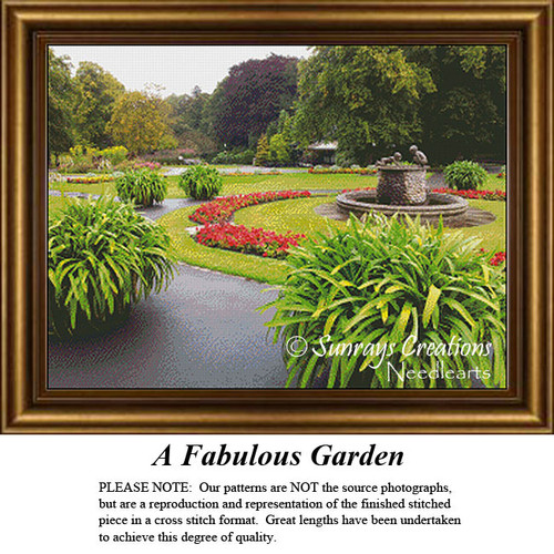 Alluring Landscapes Cross Stitch Patterns | A Fabulous Garden