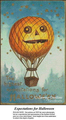 Vintage Halloween Cross Stitch Patterns | Expectations for Halloween