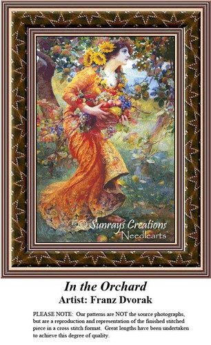 Fine Art Counted Cross Stitch Patterns | In the Orchard
