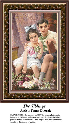Fine Art Counted Cross Stitch Patterns | The Siblings