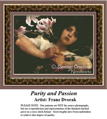 Fine Art Counted Cross Stitch Patterns | Purity and Passion