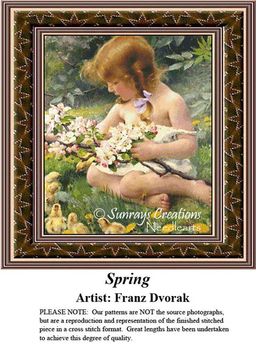 Fine Art Counted Cross Stitch Patterns | Spring
