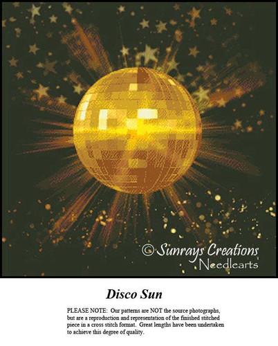 Fractal Cross Stitch Pattern | Disco Sun