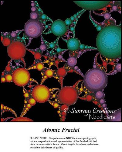 Fractal Cross Stitch Pattern | Atomic Fractal