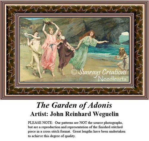Fine Art Counted Cross Stitch Patterns | The Garden of Adonis