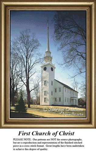 New England States Cross Stitch Patterns | First Church of Christ Connecticut