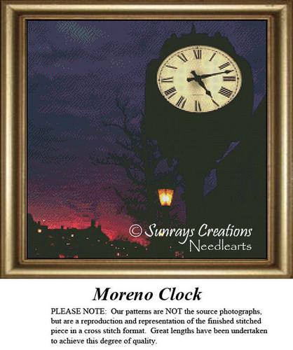New England States Cross Stitch Patterns | Moreno Clock