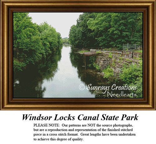 New England States Cross Stitch Patterns | Windsor Locks Canal State Park
