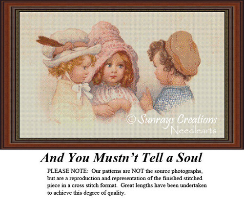Vintage Cross Stitch Patterns | And You Mustn't Tell a Soul!