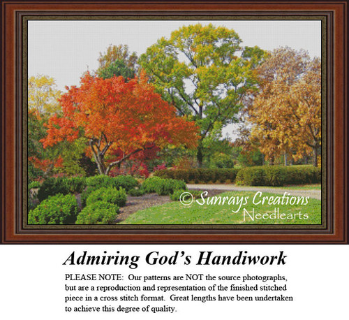 Alluring Landscapes Cross Stitch Patterns | Admiring God's Handiwork