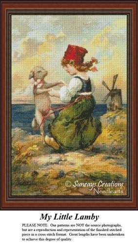 Vintage Cross Stitch Patterns | My Little Lamby