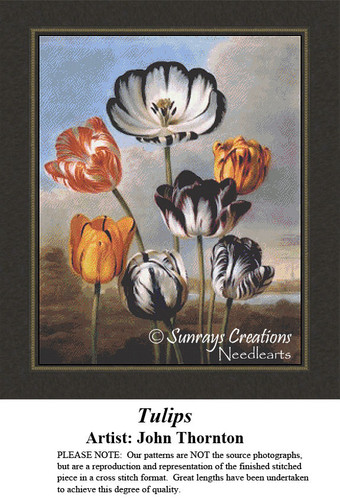 Vintage Cross Stitch Patterns | Tulips