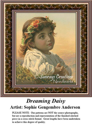Fine Art Counted Cross Stitch Patterns | Dreaming Daisy