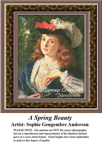 Fine Art Counted Cross Stitch Patterns | A Spring Beauty