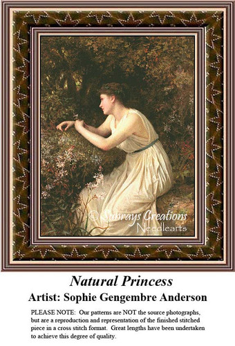 Fine Art Counted Cross Stitch Patterns | Natural Princess