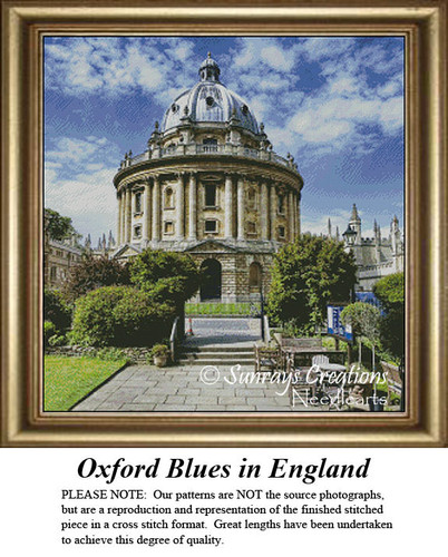 Landscapes Cross Stitch Patterns | Oxford Blues in England