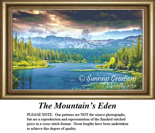 Alluring Landscapes Cross Stitch Patterns | The Mountain's Eden